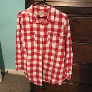 Old Navy plaid button up shirt XL